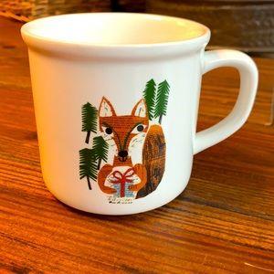 Pottery Barn Denise Fiedler fox coffee mug